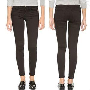 Frame Denim Le High Skinny Crop Jeans Black